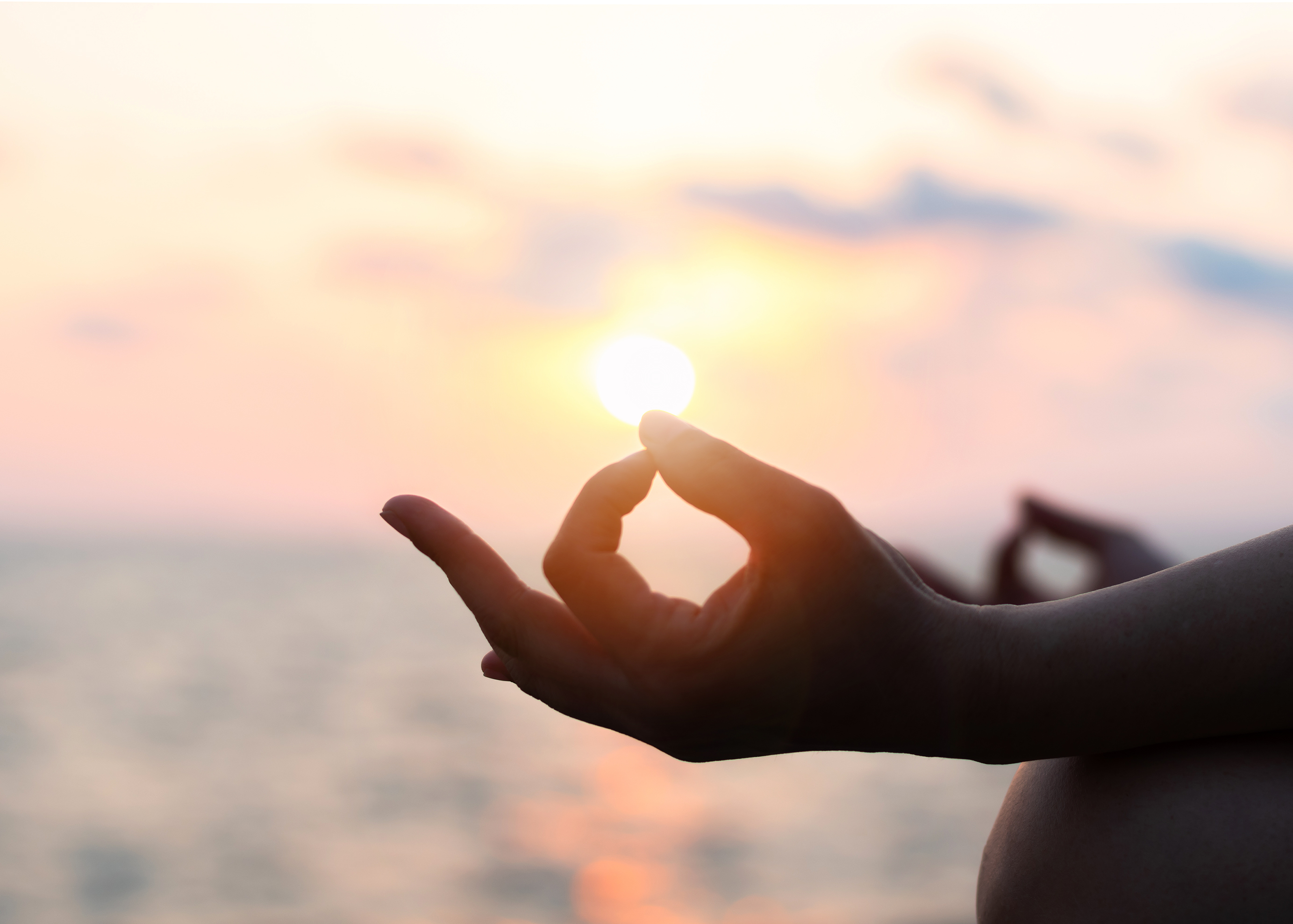 Mantra,Yoga,Meditation,,Spiritual,Mental,Health,Practice,With,Silhouette,Of