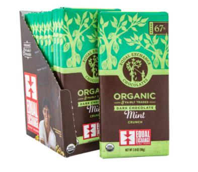 Equal Exchange Organic Dark Chocolate Mint Crunch