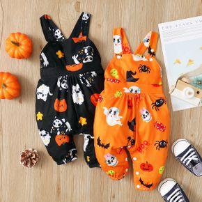 Halloween Pumpkins Baby Suspender Jumpsuits