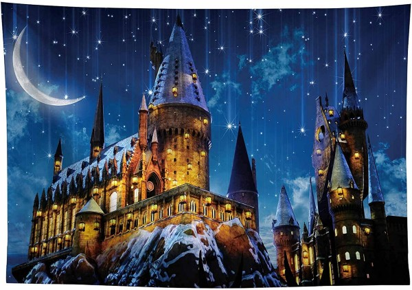 Allenjoy 10X8ft Magic Castle Witch Wizard School Backdrop