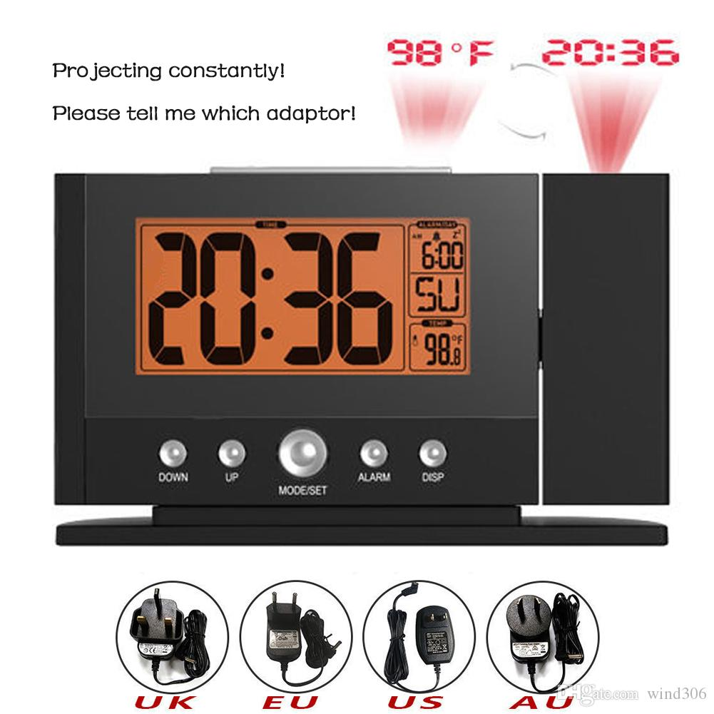 Projection Alarm Clock for Bedroom Ceiling