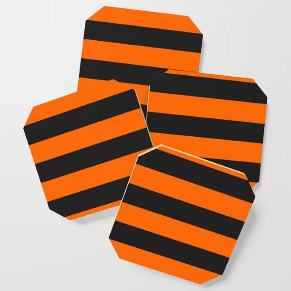 Striped Halloween Coaster