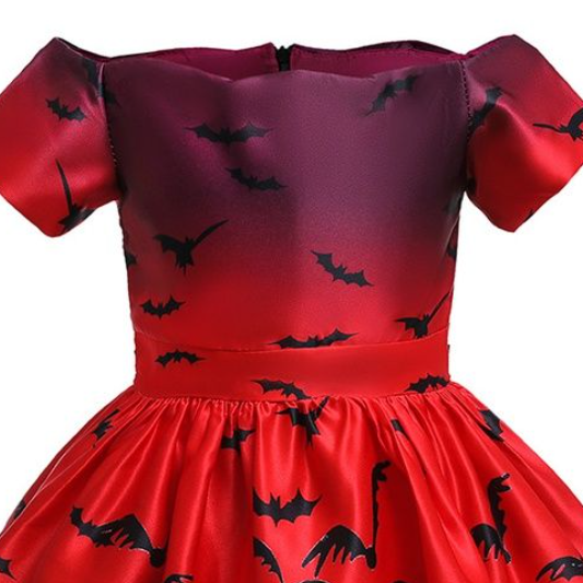 Fashionable Halloween Allover Print Party Dress