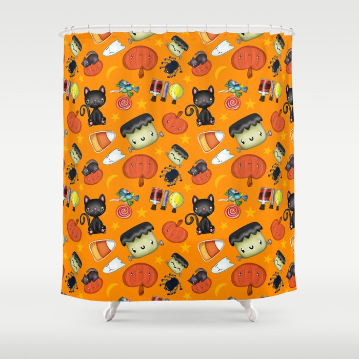Halloween Fun Pattern Shower Curtain