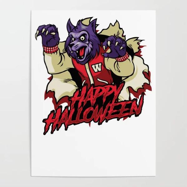 Halloween Werewolf Happy Halloween Poster