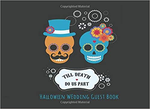 Till Death Do Us Part Halloween Wedding Guest Book