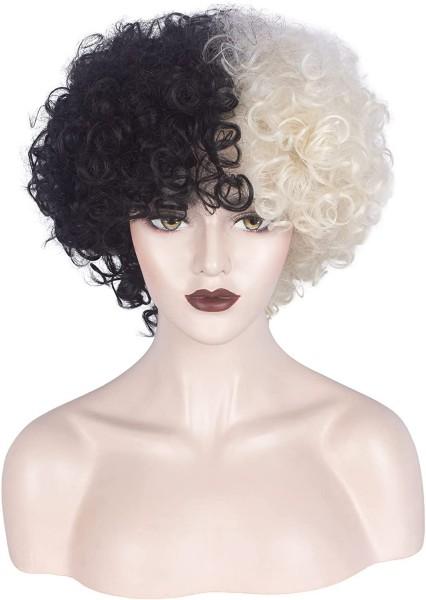 Cruella Deville Costume Cosplay Women Synthetic Wig